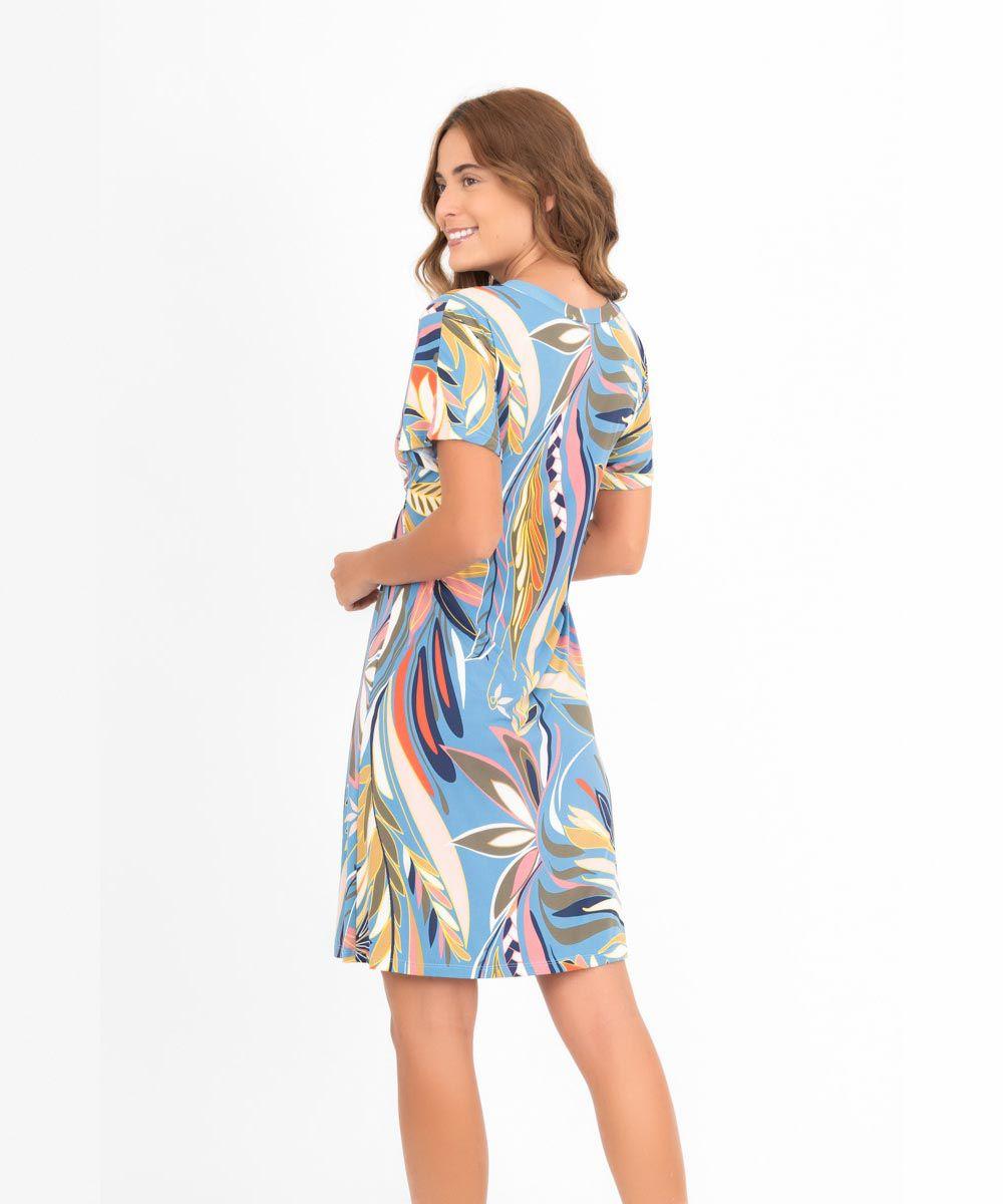 Vestido Japonesa Médio - Tropicana   - Lalie Lalou
