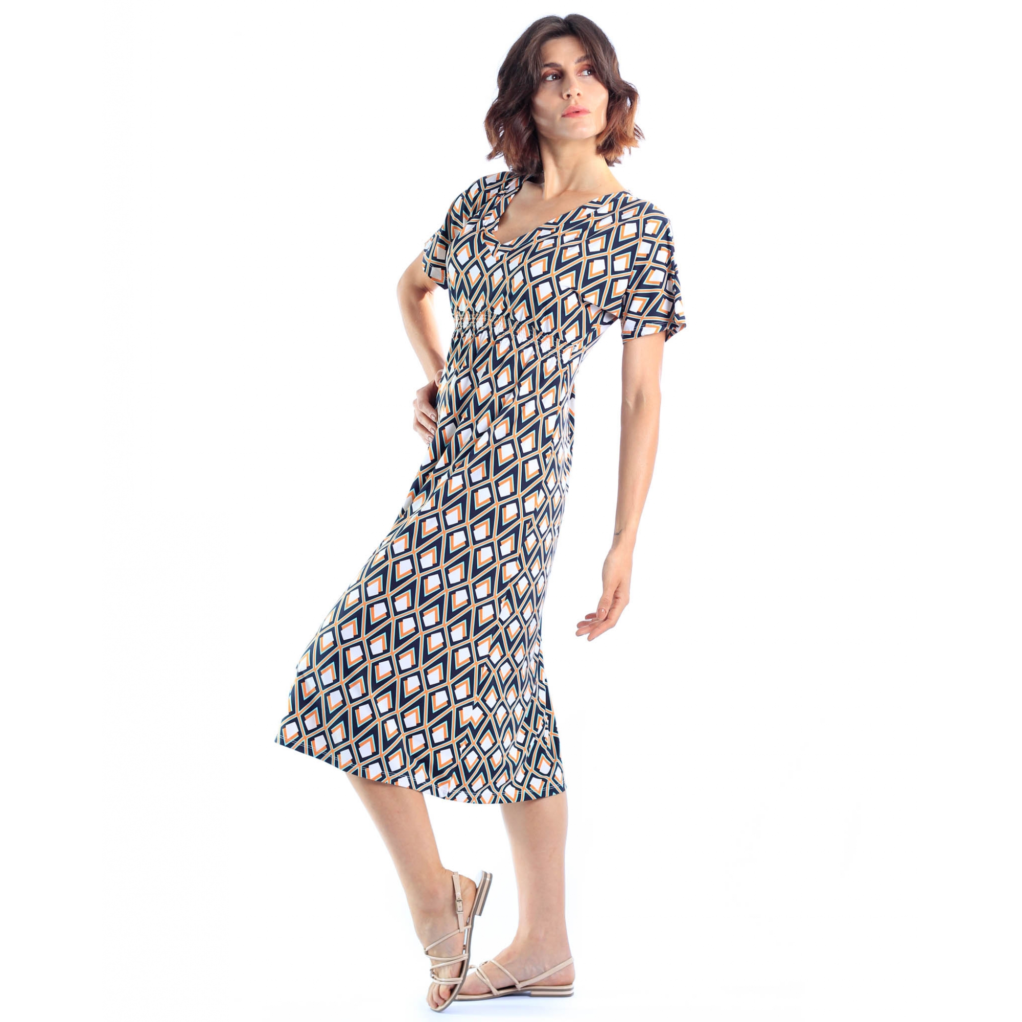 Vestido Japonesa Midi - Flechas  - Lalie Lalou