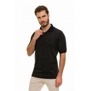 Camisa Gola Polo Meia Malha Estampada