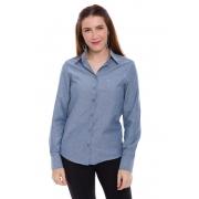 Camisa Social Feminina Lisa Manga Longa Uniforme