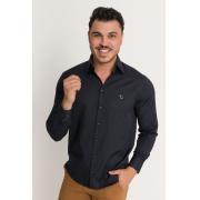 Camisa Social Masculina Olimpo Maquinetada Poá Manga Longa