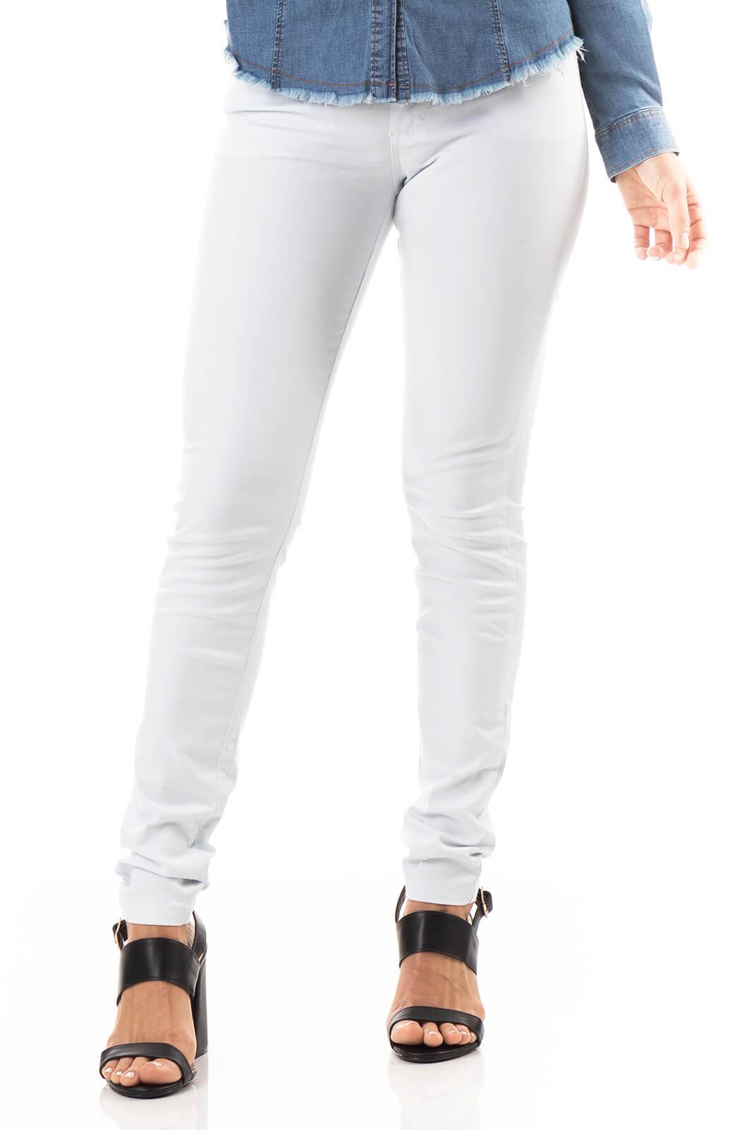 Calça Feminina Sarja Branca Impermeável