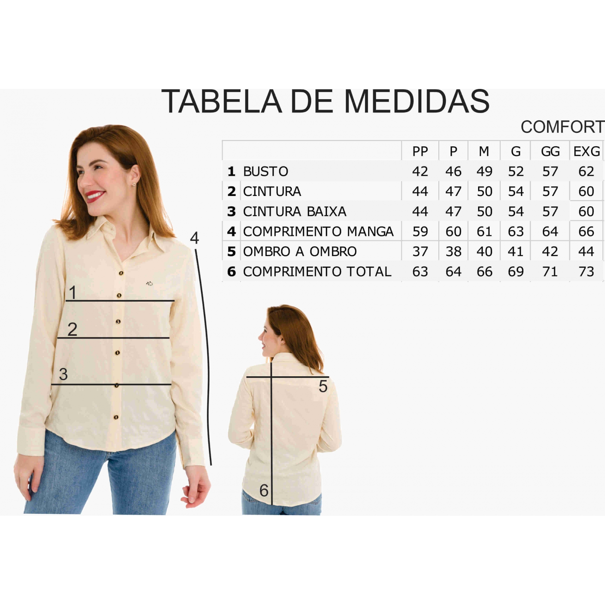Camisa Feminina Olimpo Viscose Com Amarração Frente Manga Longa Preta