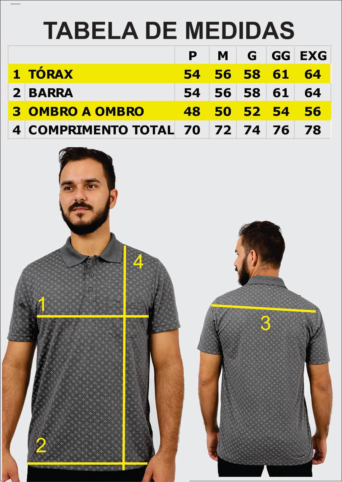 Camisa Gola Polo Lisa com Bolso Poliviscose Várias Cores