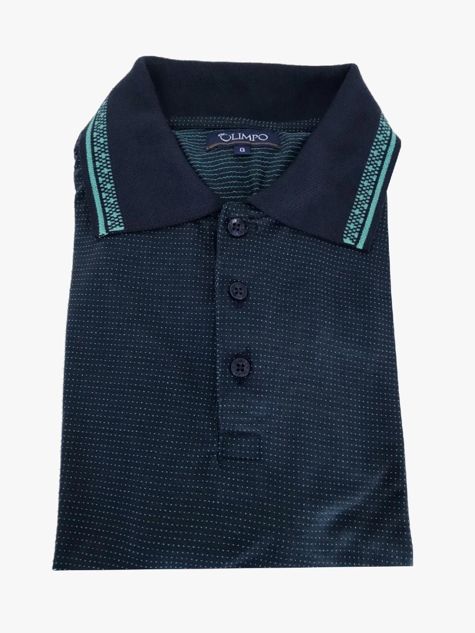 Camisa Gola Polo Olimpo Malha Jacguard Viscose