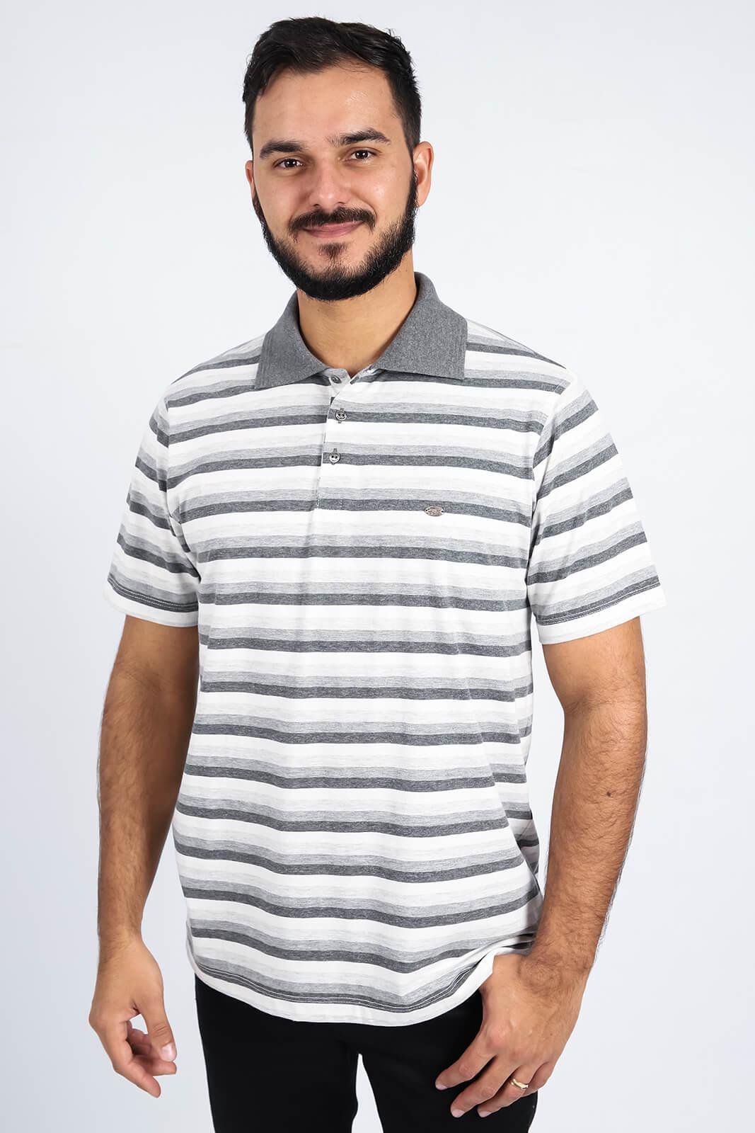 Camisa Gola Polo Olimpo Meia Malha Listrada