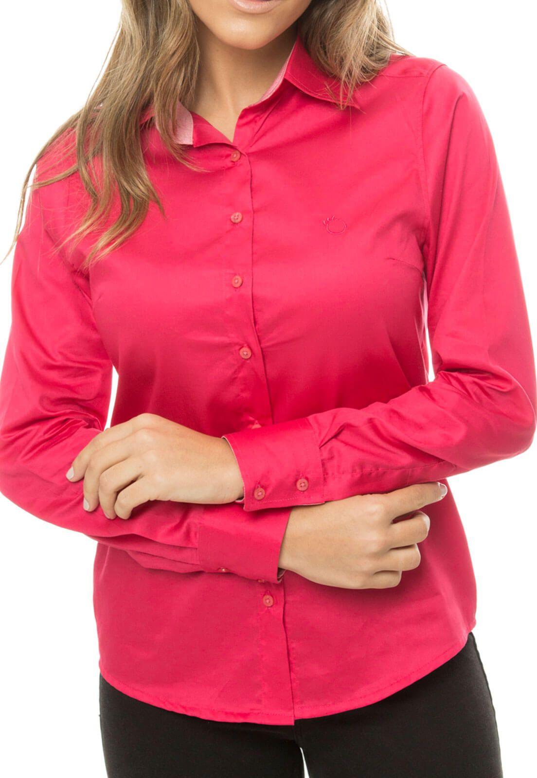 Camisa Olimpo Acetinada 100% Algodão Fio 80 Manga Longa