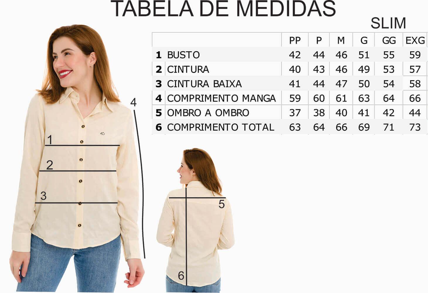 Camisa Camisete Feminino Olimpo Acetinada 100% Algodão Fio 80 Manga Longa