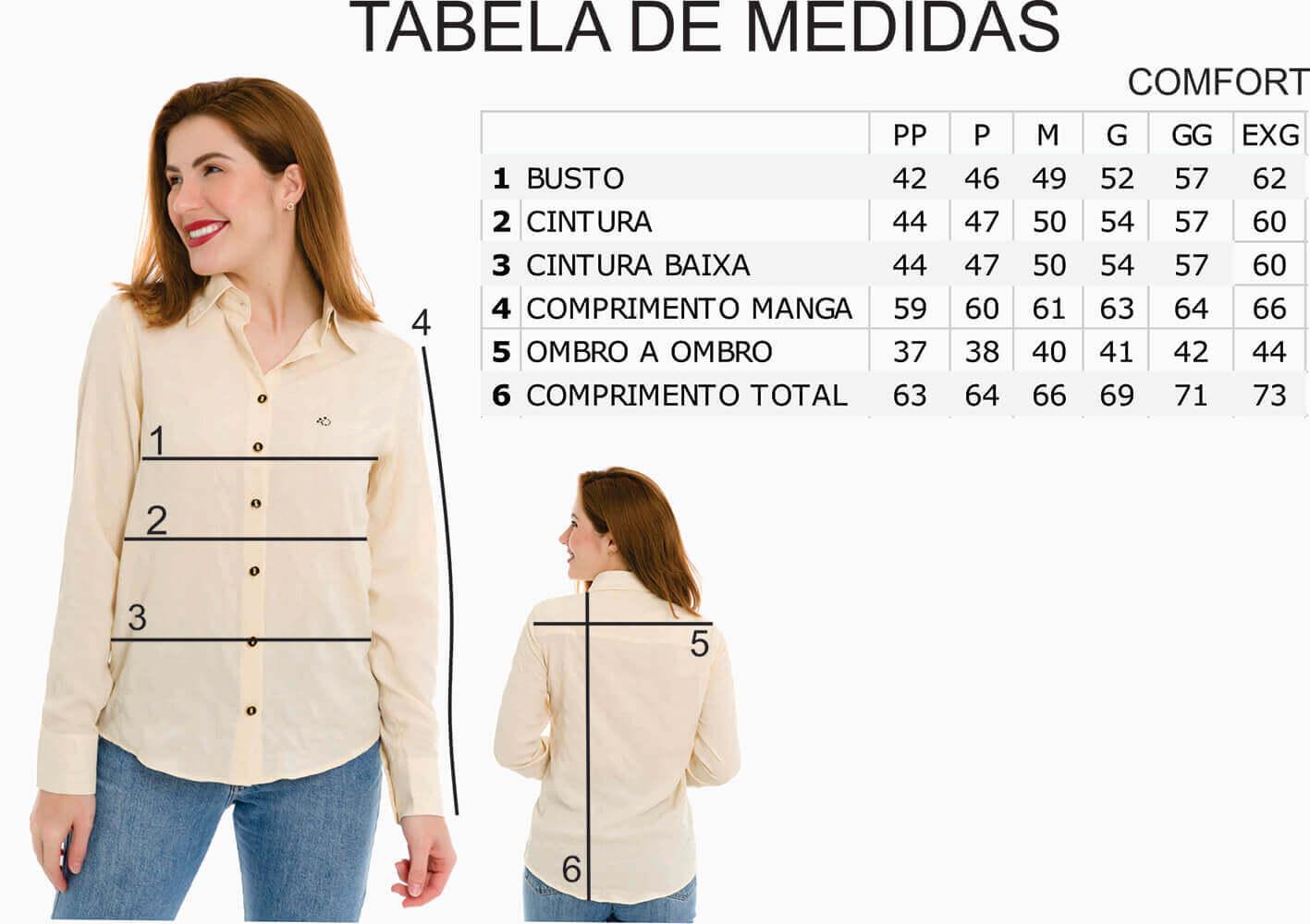 Camisa Camisete Feminino Olimpo Crepe Floral Manga Longa Bege