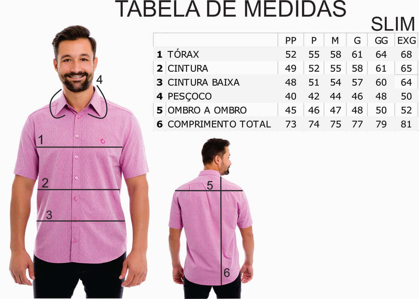 Camisa Social Masculina Slim Olimpo Estampada 100% Algodão Fio 50 Manga Curta