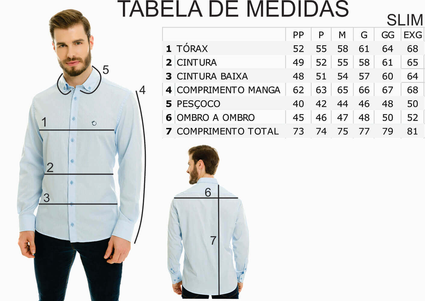 Camisa Social Jeans Olimpo Estampada Manga Longa