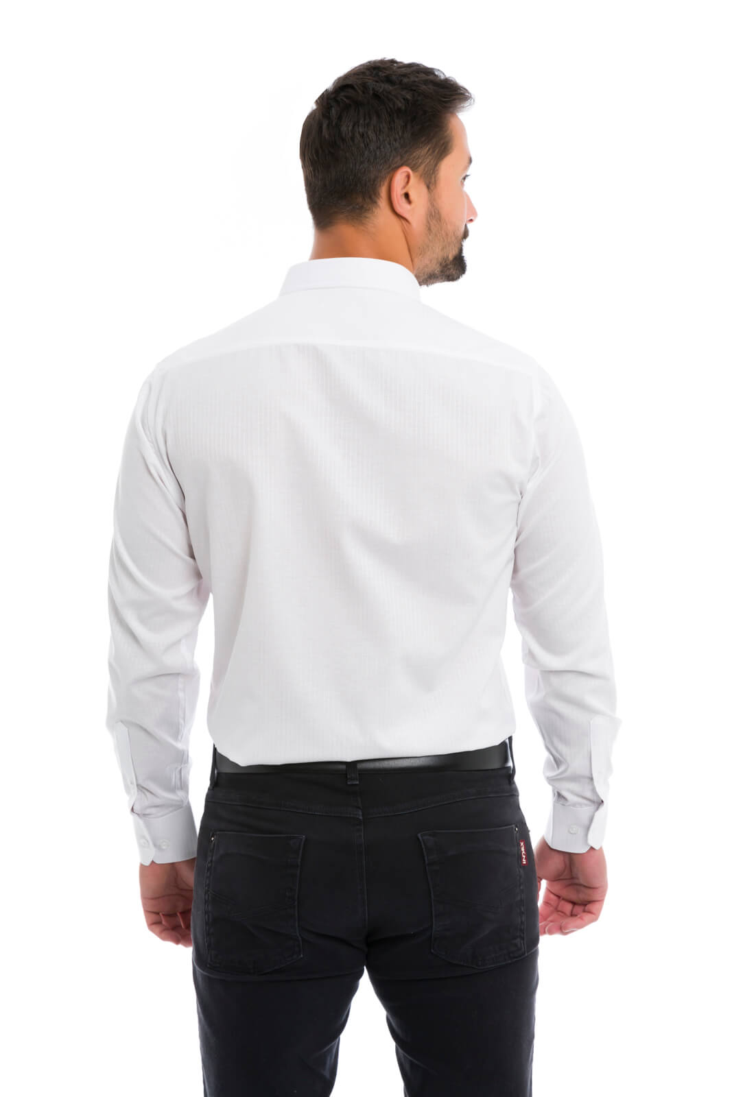 Camisa Social Masculina Slim Olimpo Listrada Manga Longa