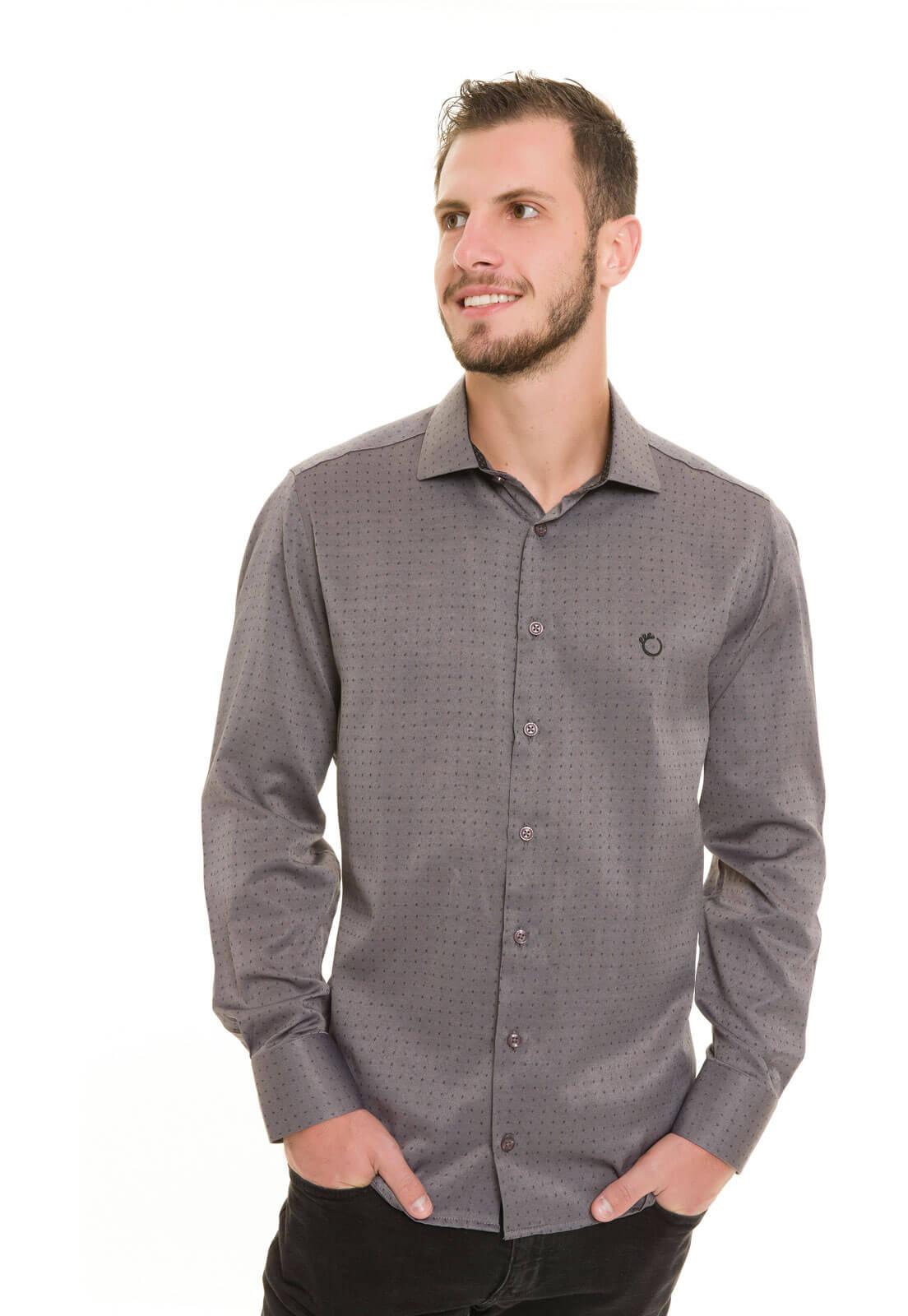Camisa Olimpo Maquinetada Manga Longa