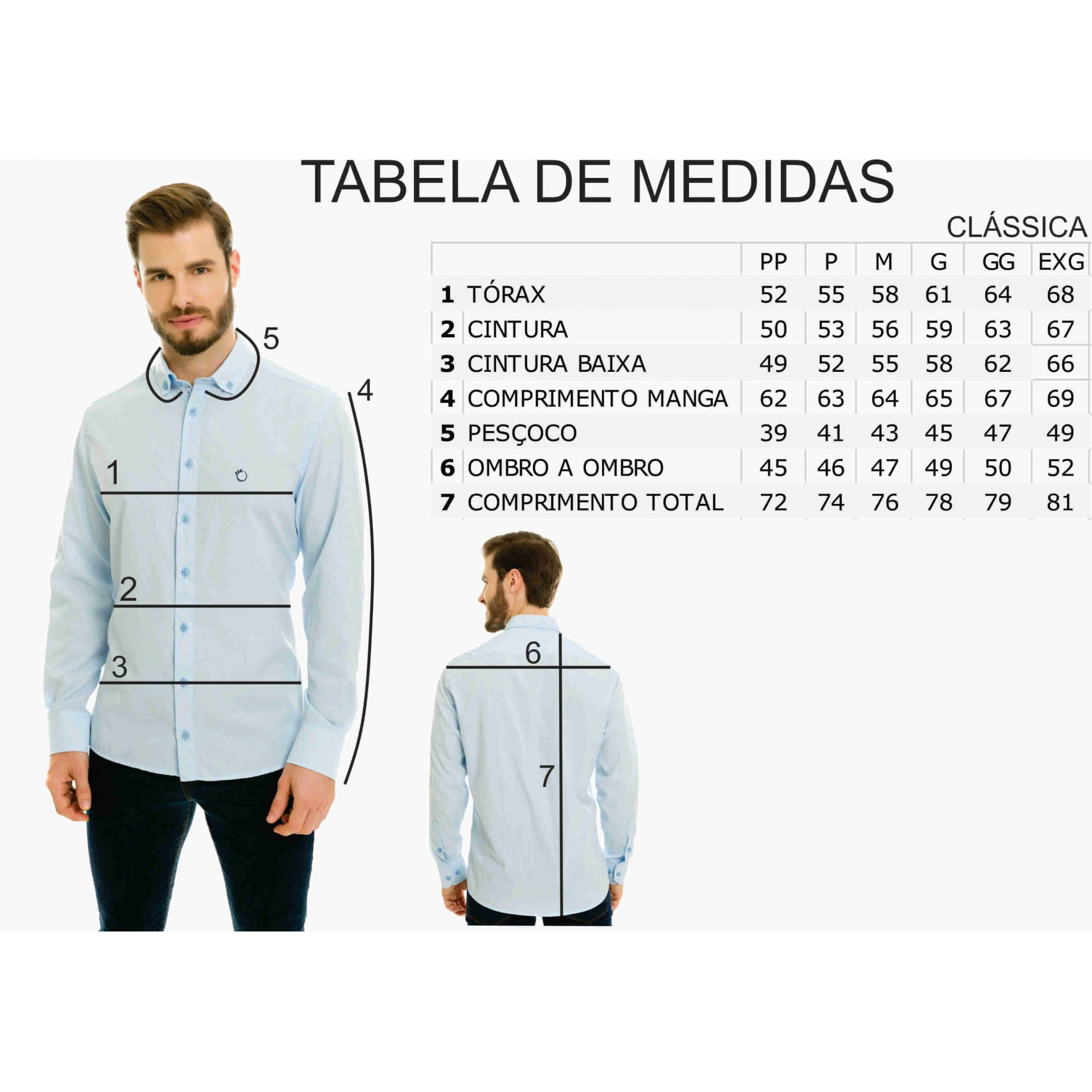 Camisa Social Masculina Olimpo Listrada com Bolso Manga Longa