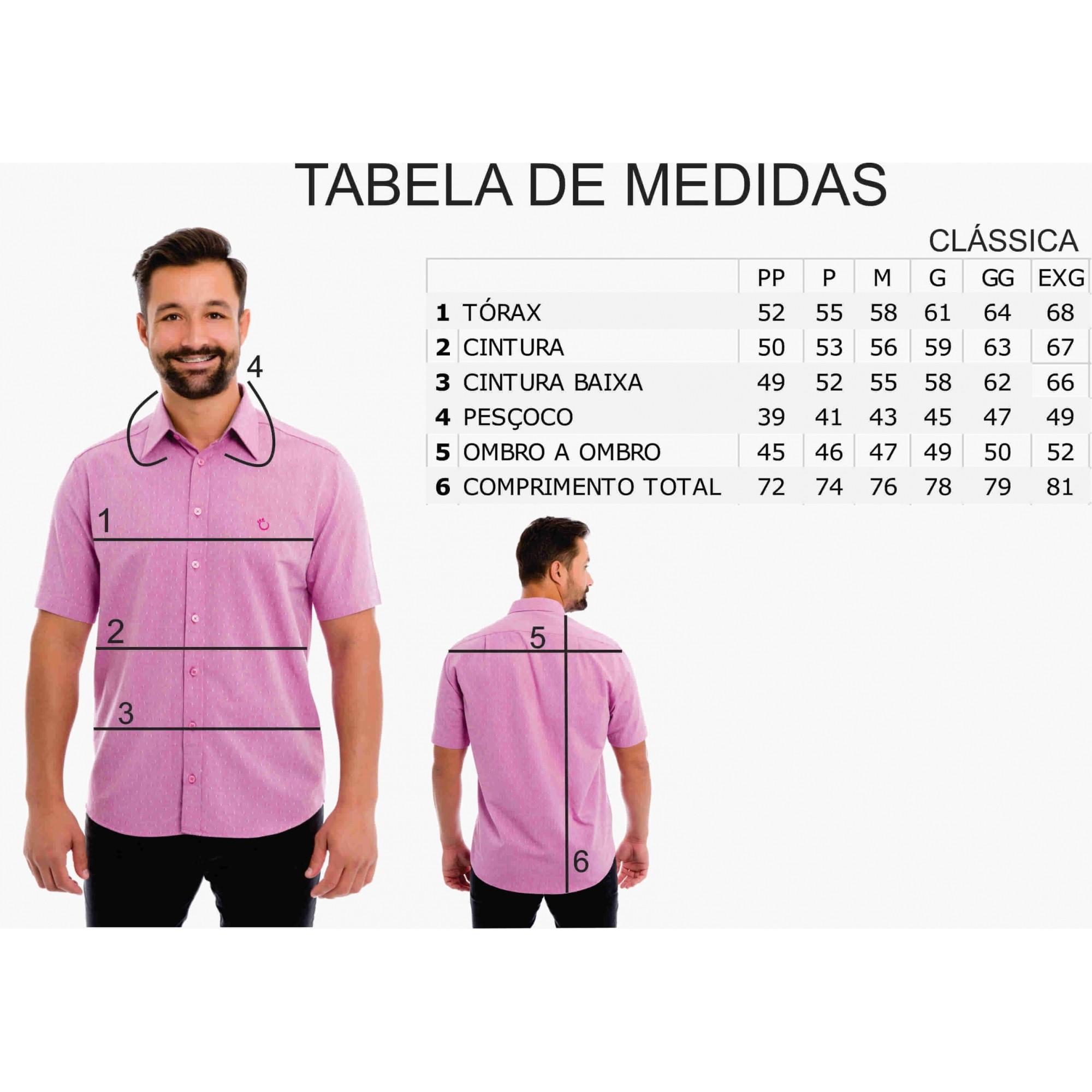 Camisa Social Olimpo Estampada 100% Algodão Fio 50 Manga Curta