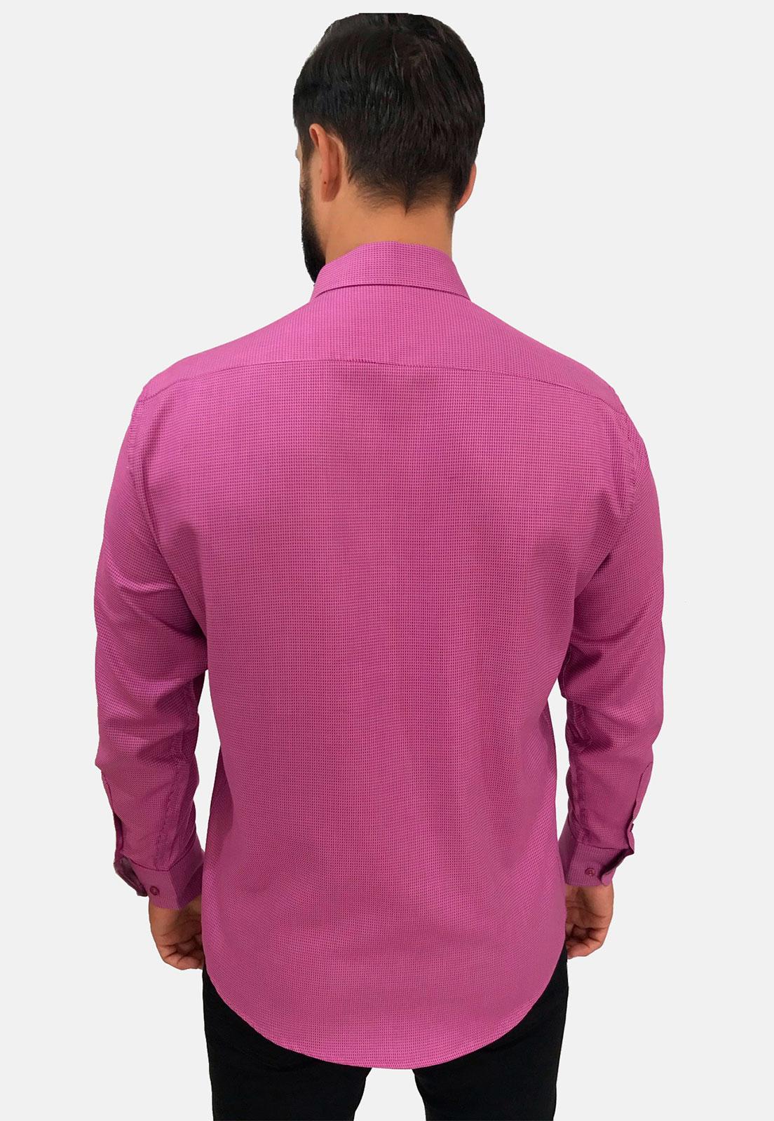 Camisa Social Slim Masculina Olimpo Maquinetada Manga Longa