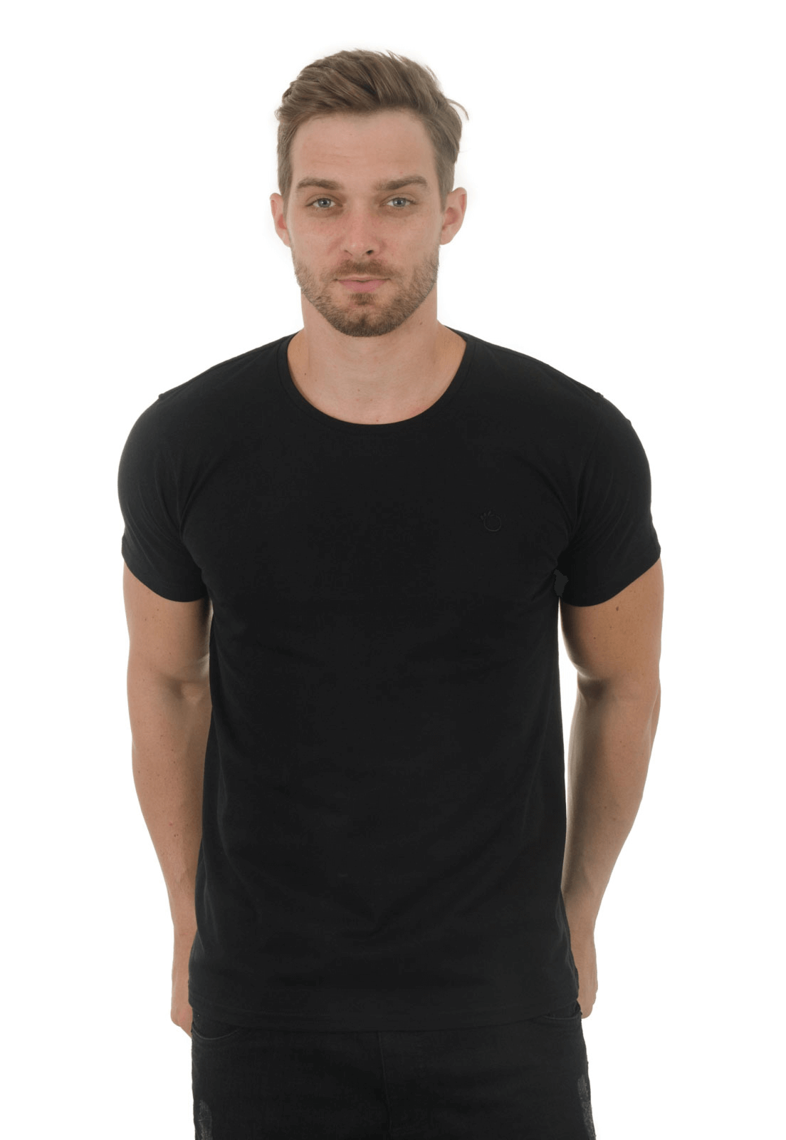 Camiseta Básica Gola Careca Olimpo Meia Malha Lisa