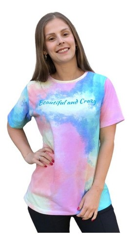 T-Shirt Camiseta Feminina Tie Dye Estampa