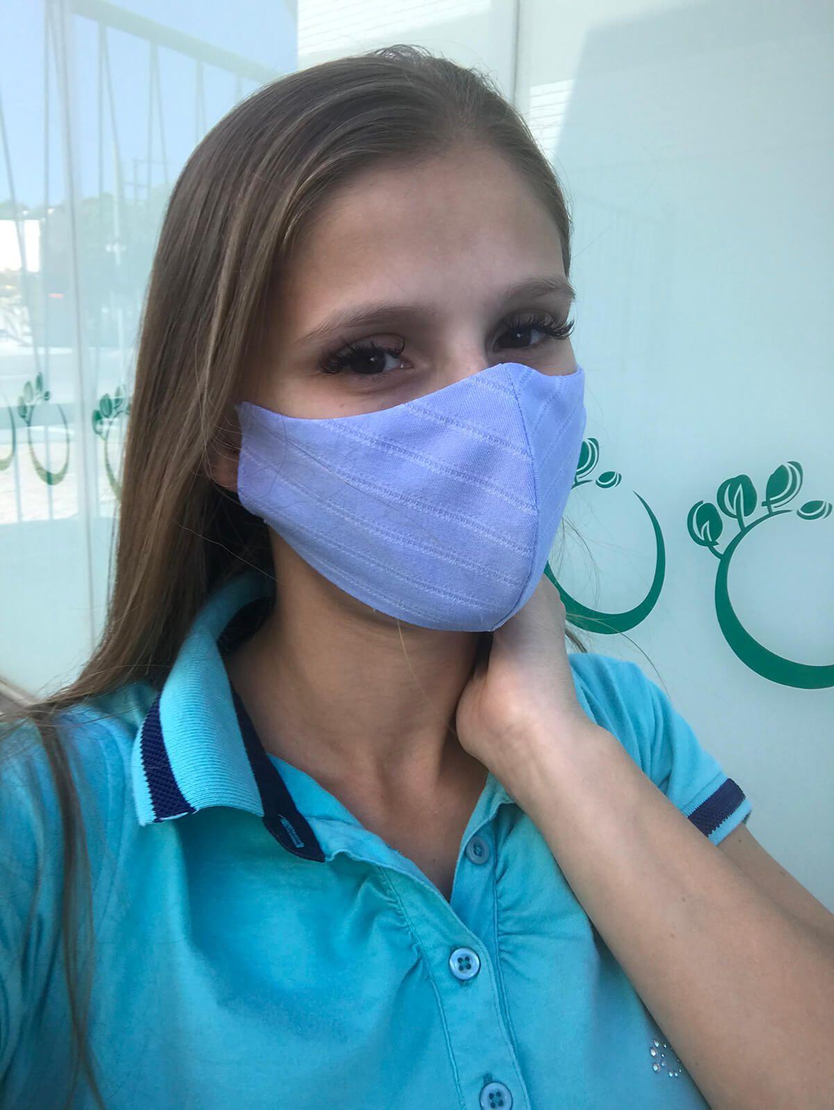 KIT 10 Máscaras de Proteção Reutilizável Tecido Lavável Forro Duplo