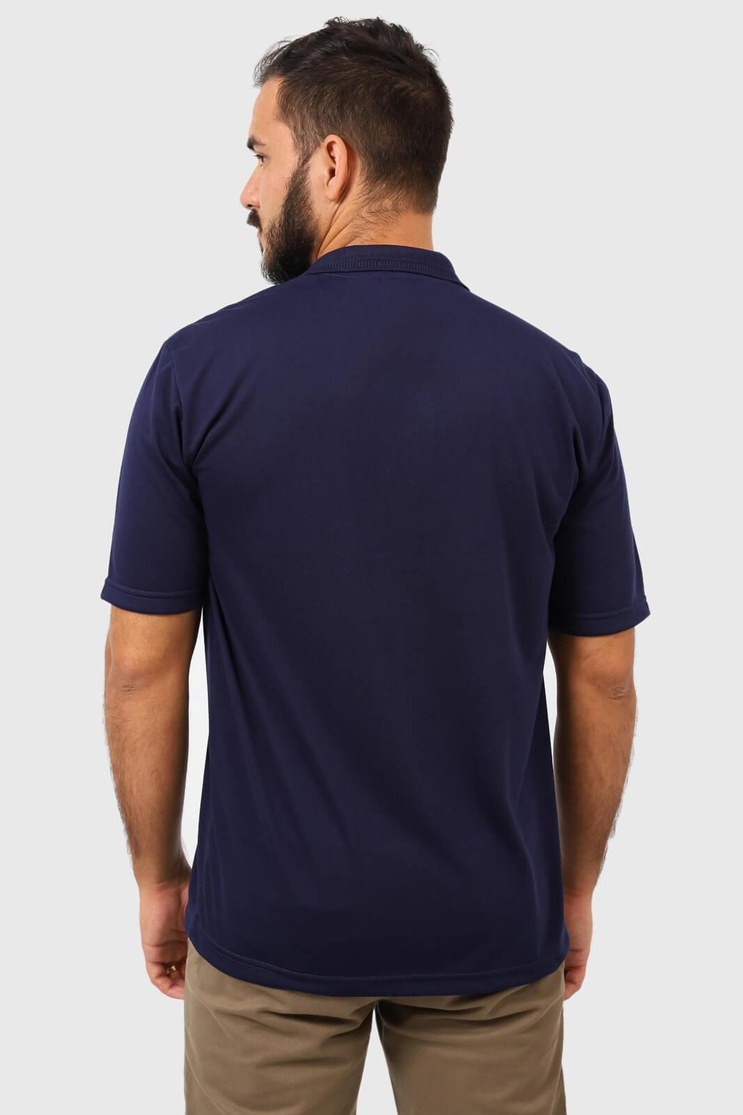 KIT 3 Camisas Gola Polo Lisa com Bolso Poliviscose