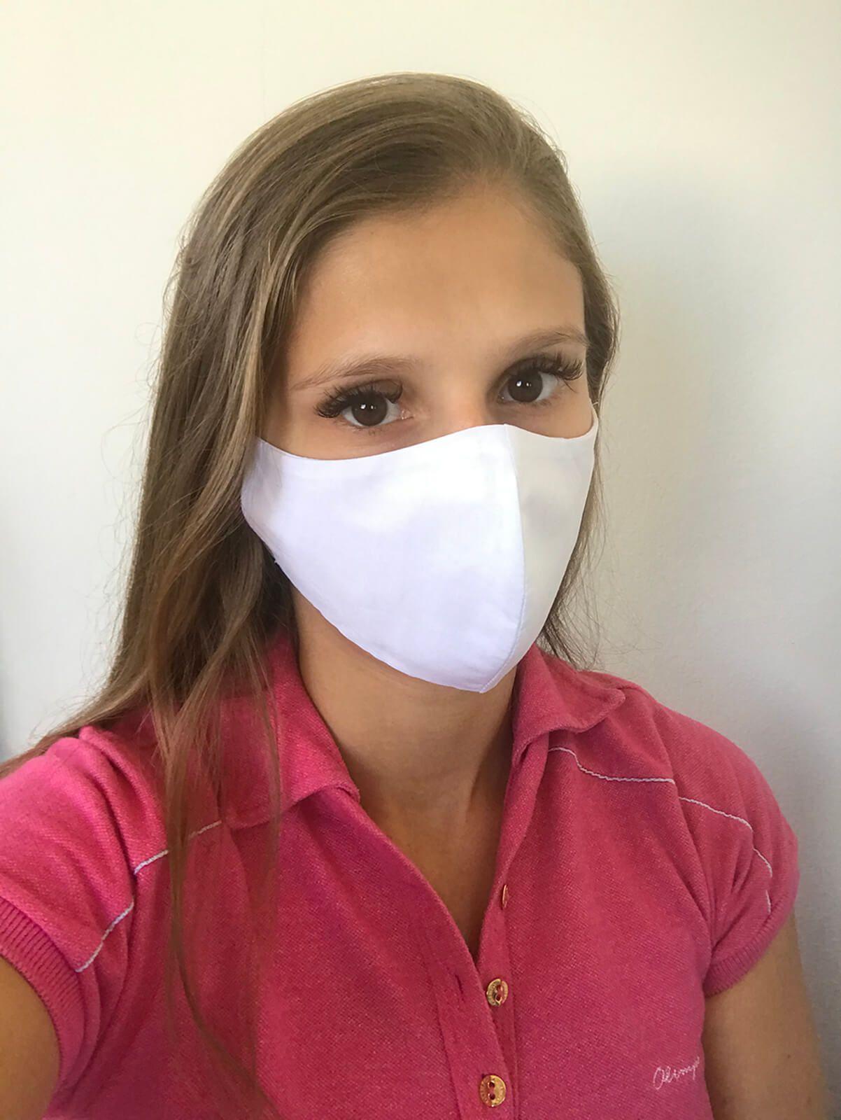 Máscara Proteção Reutilizável Tecido Lavável Forro Duplo