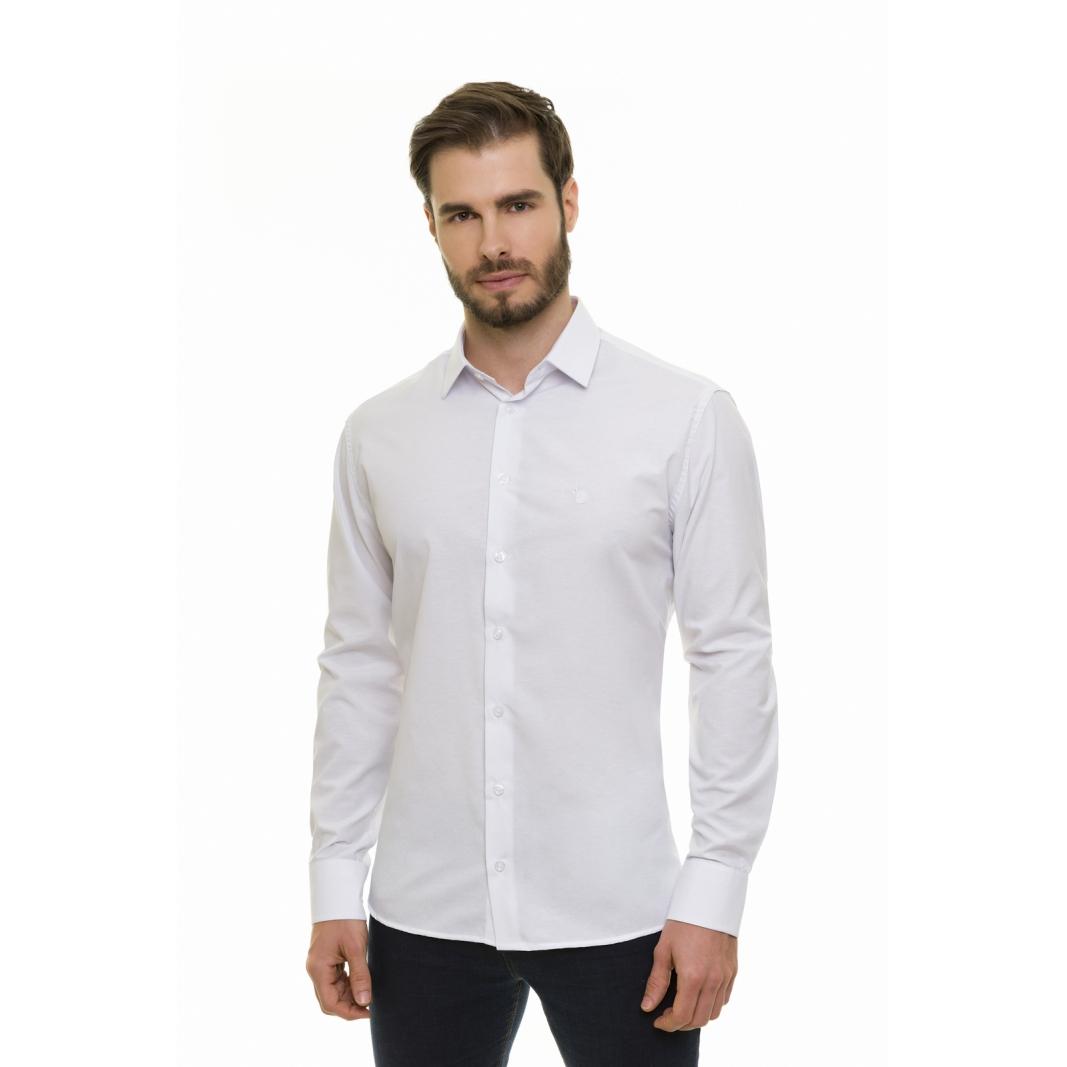Pai e Filho - Camisa Social Lisa Branca