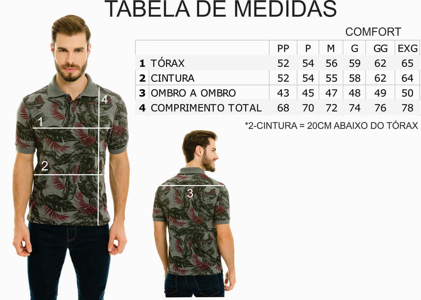Camisa Gola Polo Olimpo Meia Malha Floral