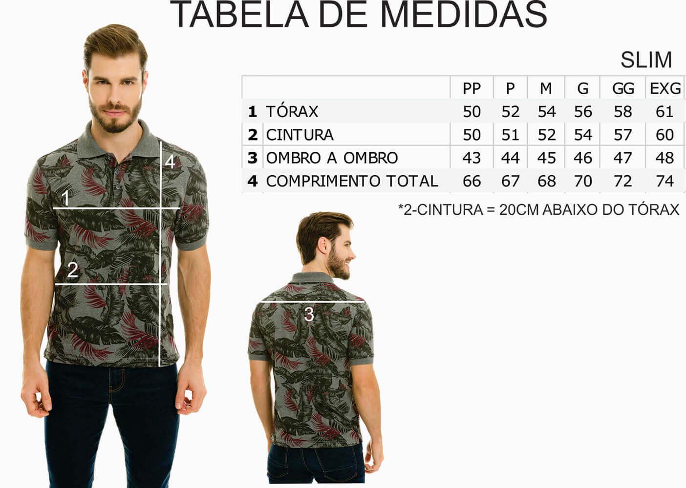 Camisa Gola Polo Olimpo Meia Malha Floral Mescla