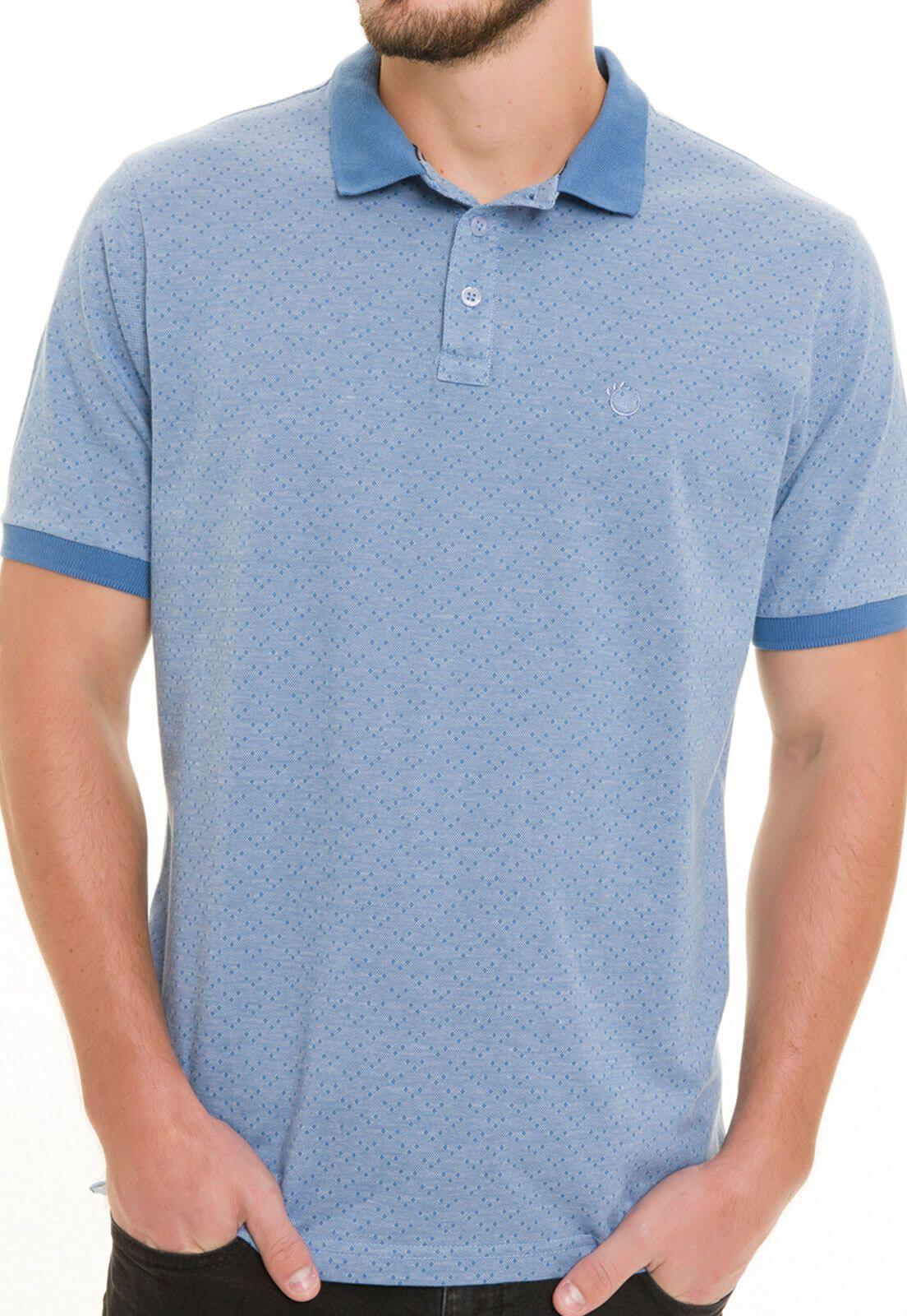 Camisa Gola Polo Olimpo Meia Malha Jacguard