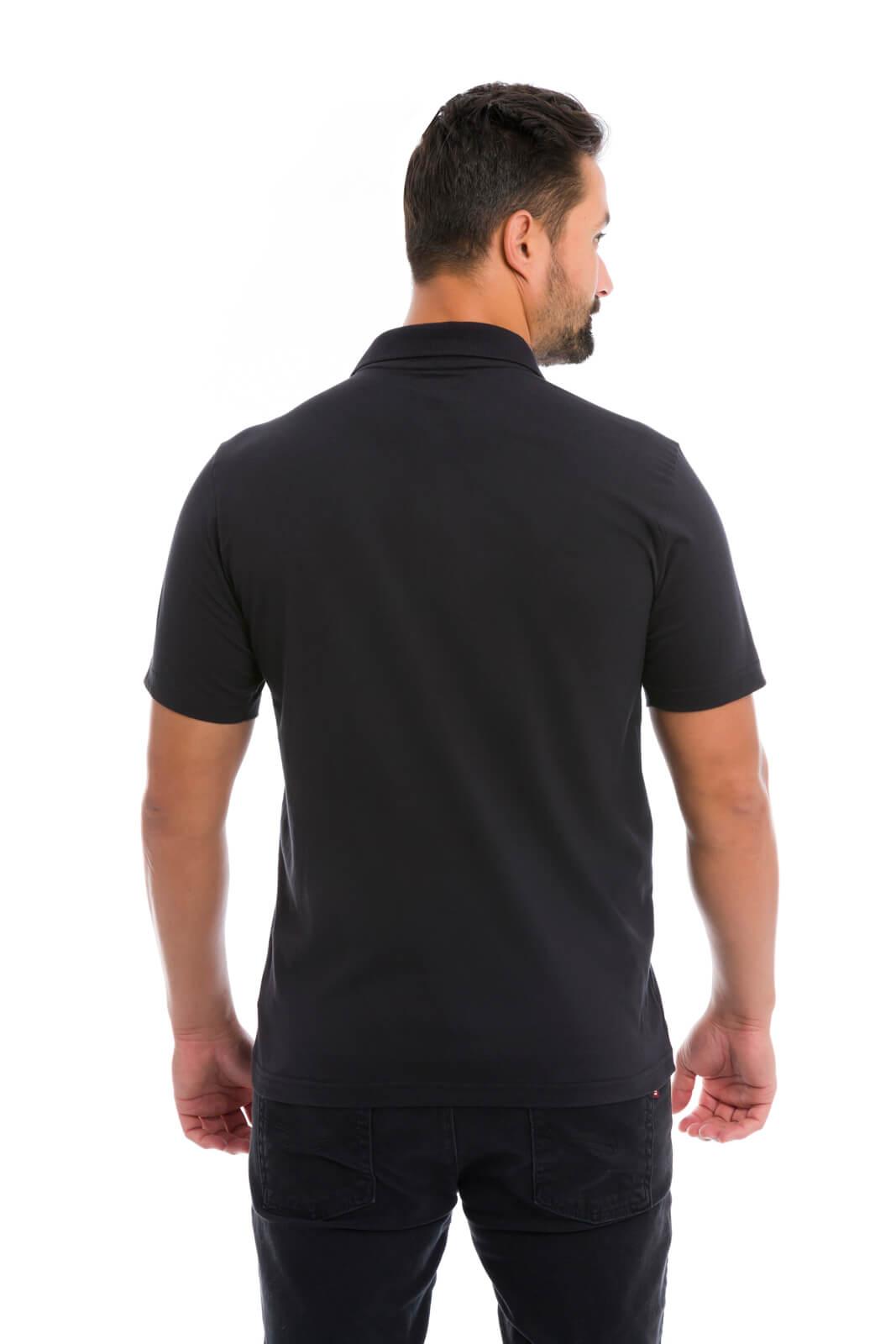 Camisa Gola Camisa Gola Polo Olimpo Meia Malha Lisa com Bolso