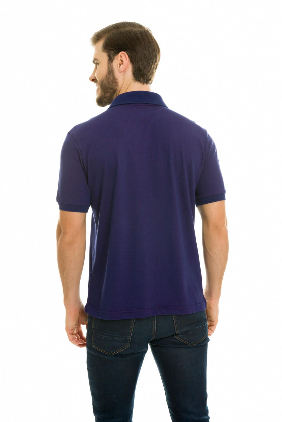 Camisa Gola Polo Olimpo Meia Malha Marinho