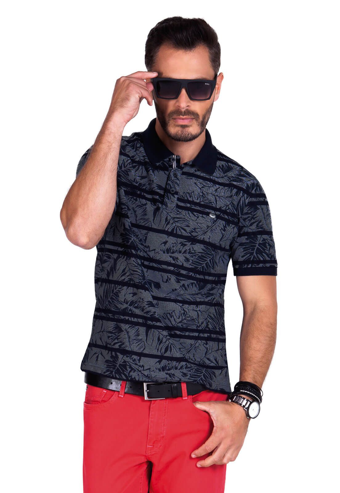 Camisa Gola Polo Olimpo Piquet Estampado