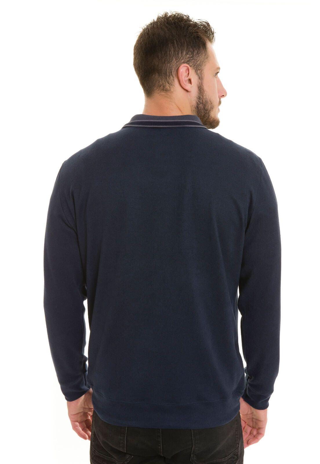 Suéter Masculino Olimpo Malha Tricot Inverno Decote V