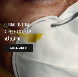 Cuidados com a pele ao usar máscara