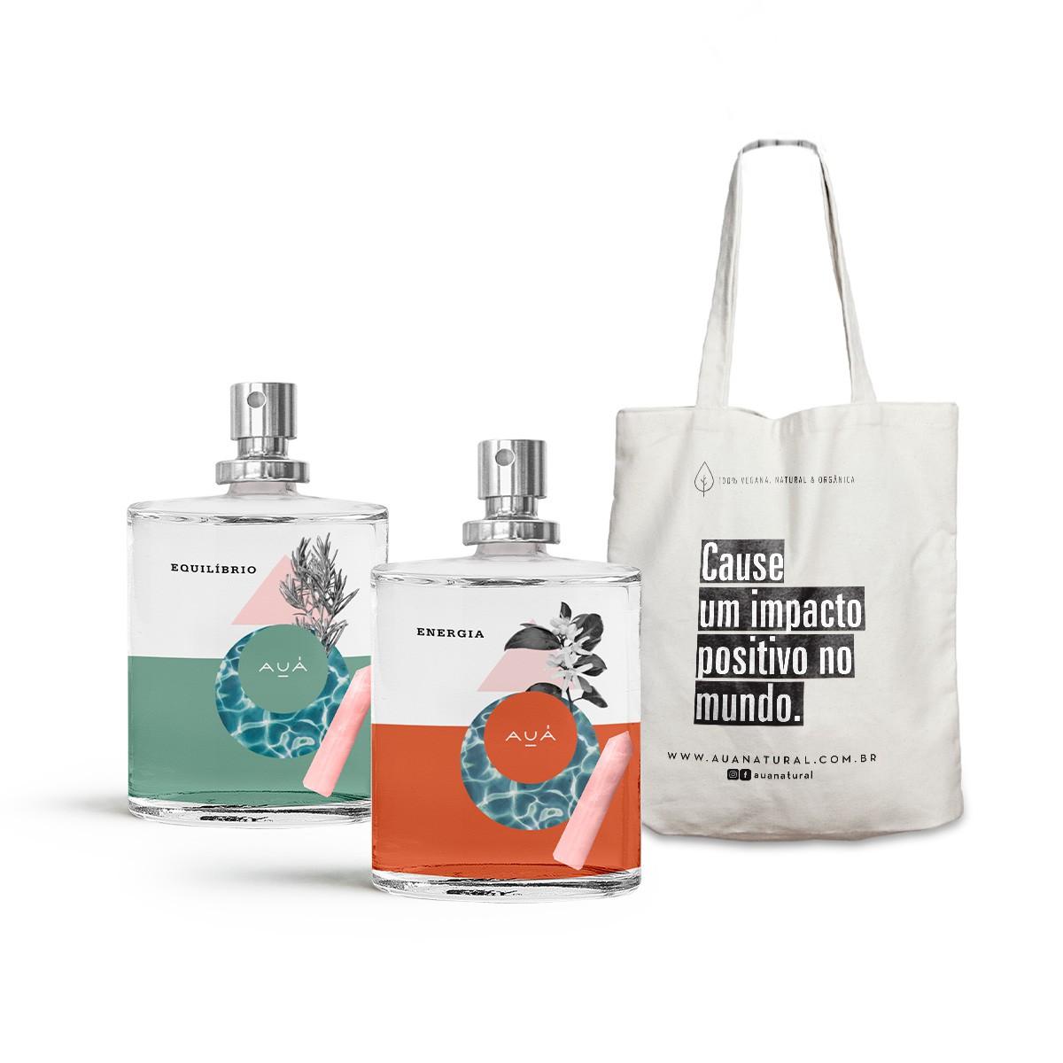 Água De Quartzo Duo + Ecobag AUÁ