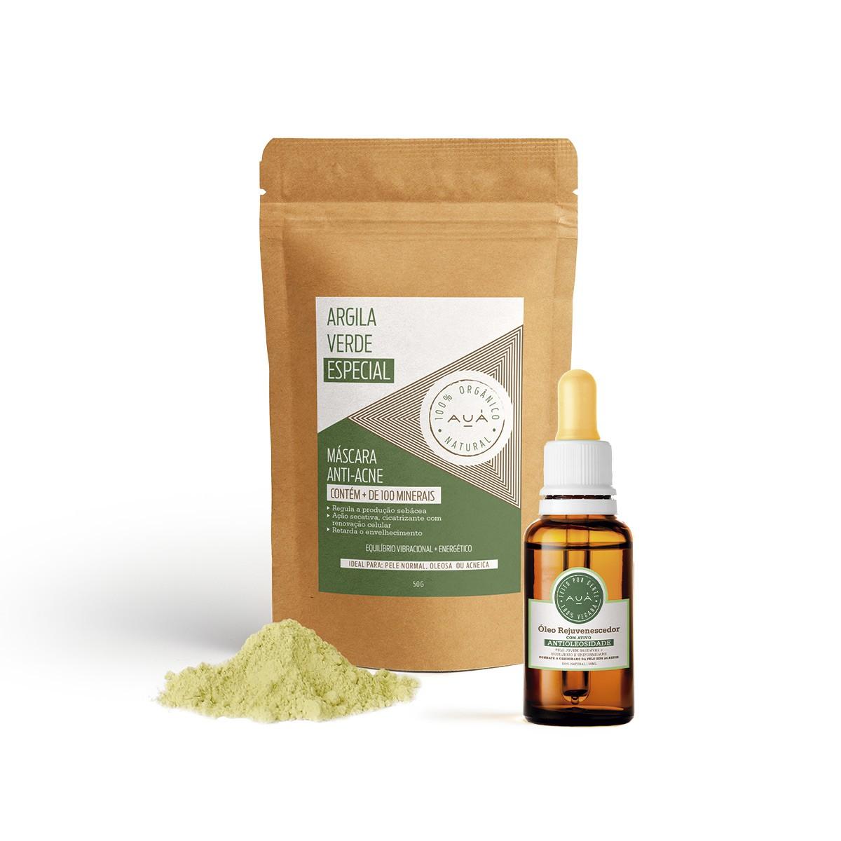 Óleo Rejuvenescedor com ativo Antioleosidade + Argila Verde