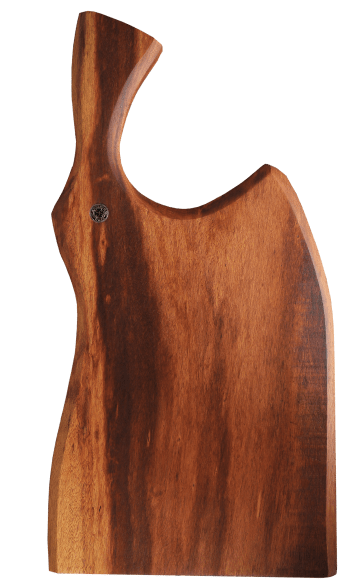 Mr. Crowley - Tábua de churrasco 60 x 25 cm em muiracatiara