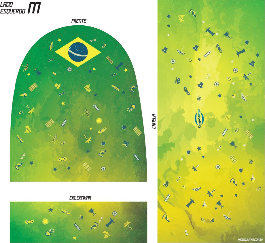Adesivo Kangoo Jumps Brasil Ícones Unissex