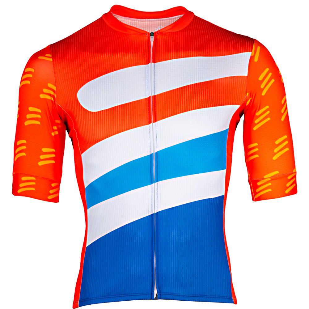 Camisa de Ciclismo Masculino Falcão Laranja Be Bravo