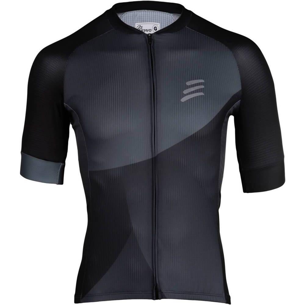 Camisa de Ciclismo Masculino Preto e Cinza Be Bravo