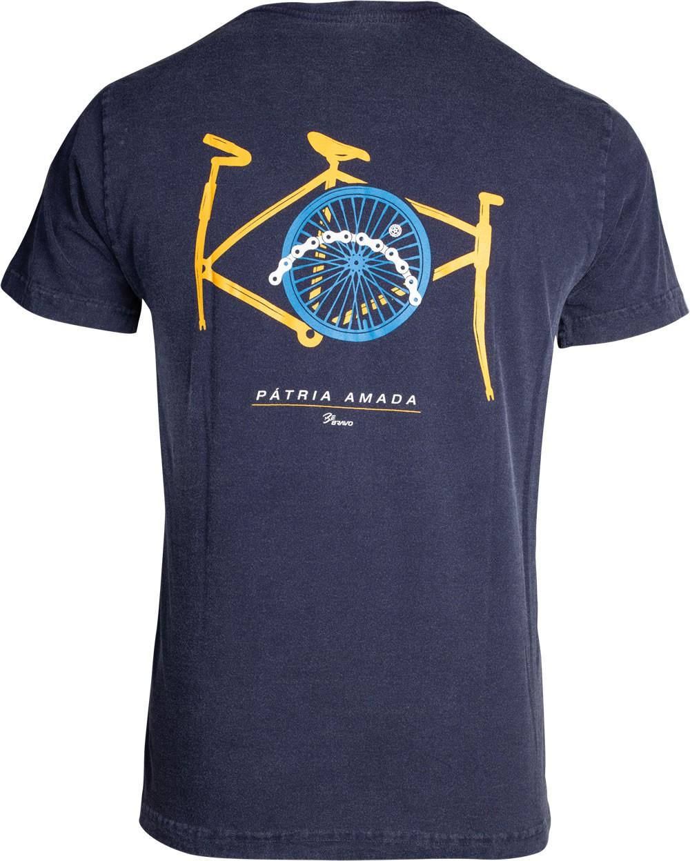 Camiseta Be Bravo Pátria Amada Masculino Azul
