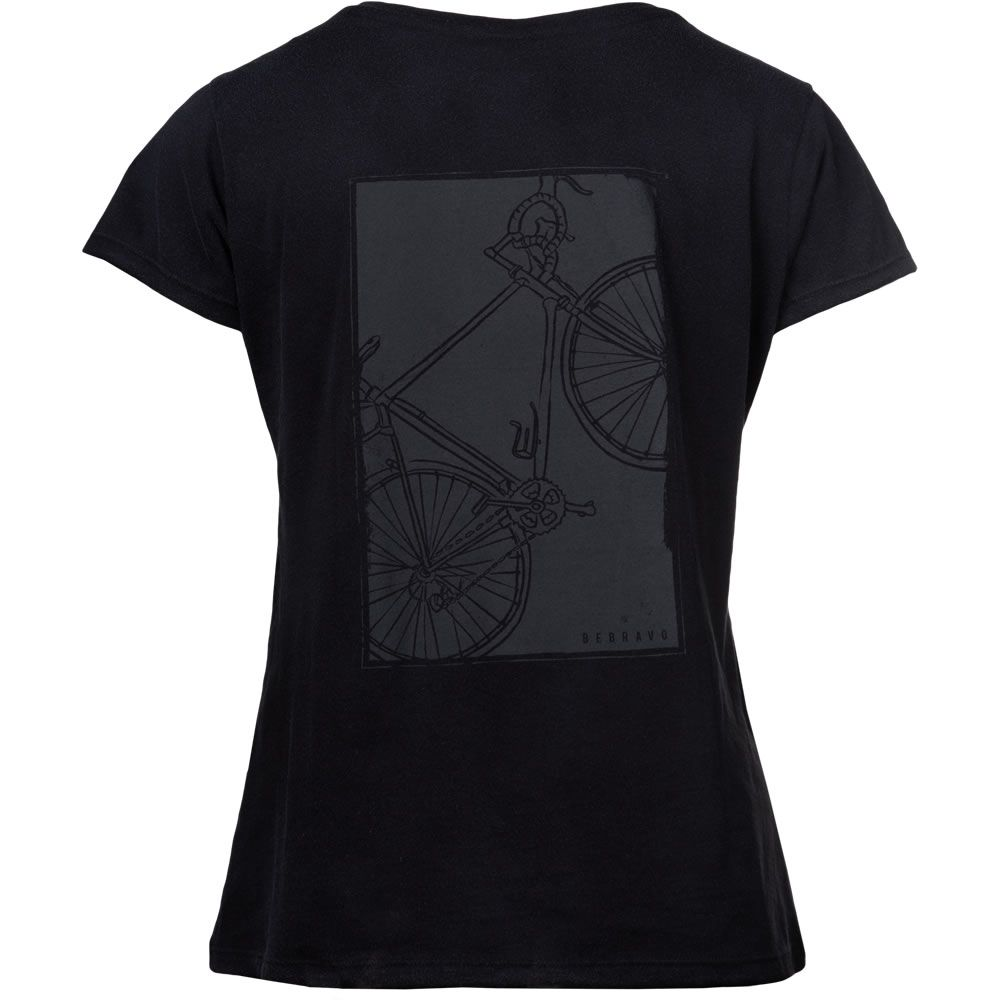 Camiseta Feminina Bike Be Bravo Preta