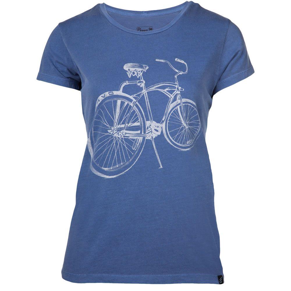 Camiseta Feminina Bike Surf Be Bravo Azul