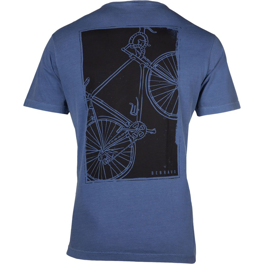 Camiseta Masculina Bike Be Bravo Azul
