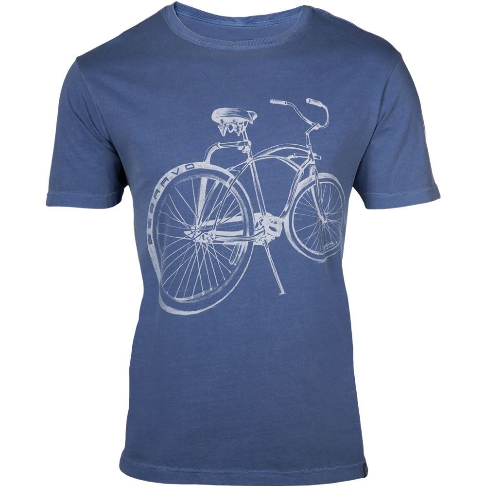 Camiseta Masculina Bike Surf Be Bravo Azul