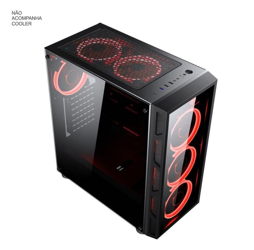 GABINETE GAMER BRAZIL PC BPC-2052 VIDRO