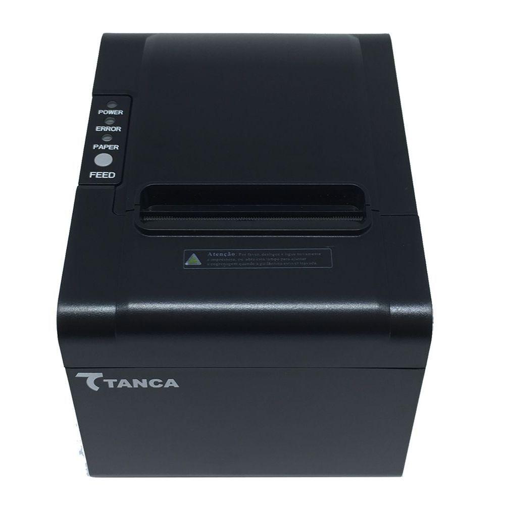 Impressora De Cupom Térmica Tanca Tp-650 Preto Não Fiscal USB/RJ-45/SERIAL