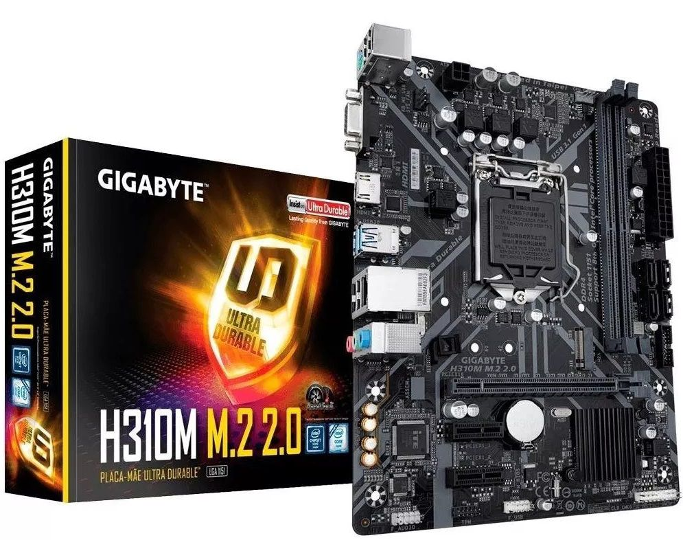 PLACA MÃE 1151 INTEL H310M DDR4 HDMI 8GB
