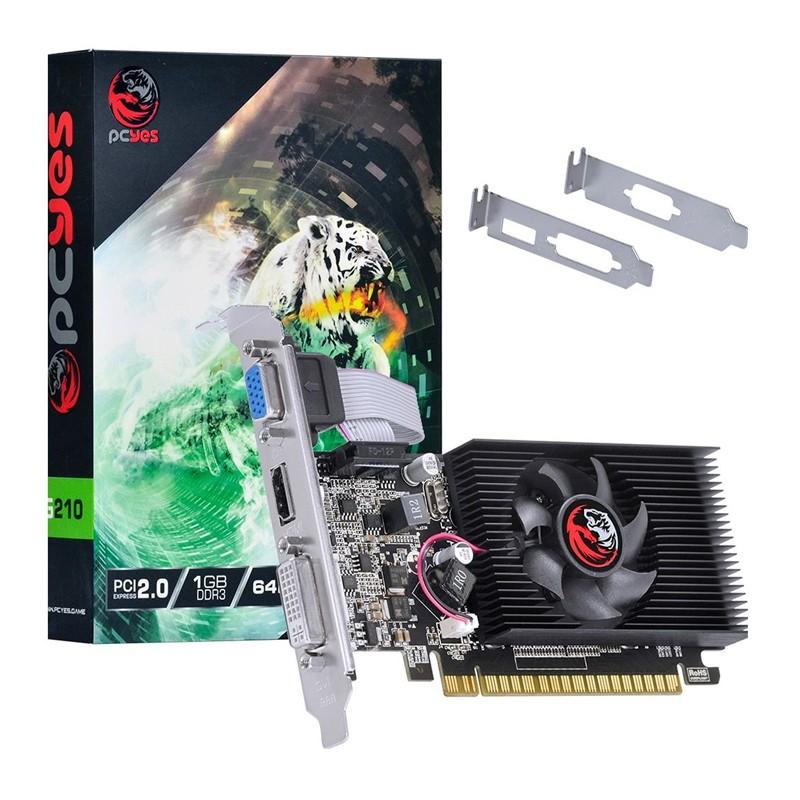 PLACA DE VÍDEO PCYES G210 GEFORCE 1GB DDR3