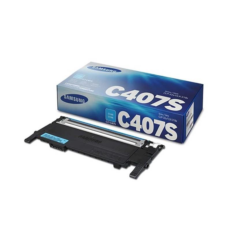 Toner Samsung CLT-C407S/XAZ - Ciano